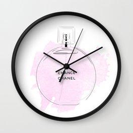 Round purple perfume Wall Clock