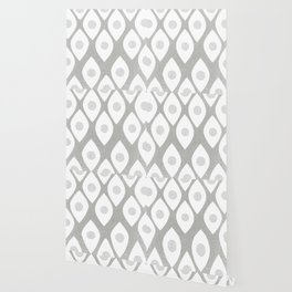 Eye Pattern White Wallpaper