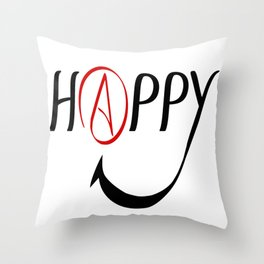 Happy Atheists Throw Pillow