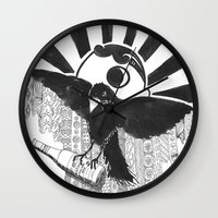 baltimore Wall Clocks featuring Boboh Baltimore by Adrienne S. Price