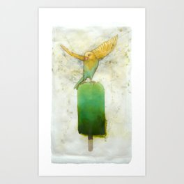 Canary Popsicle Lime Art Print