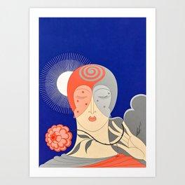 "Art Deco Design ""Optimism and Pessimism"" Art Print"