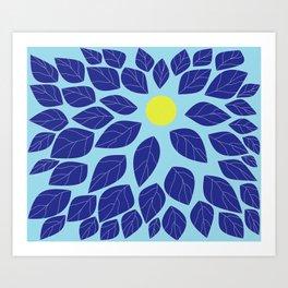 moon leaves Art Print