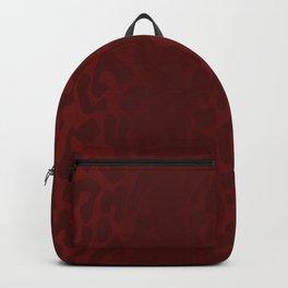 Blood Red Shadowed Leopard Print Backpack