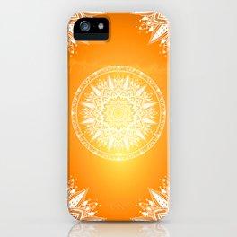Sunset mandala iPhone Case