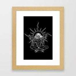 MEDITATION MEDICATION Framed Art Print
