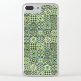 Green Valley Quilt Clear iPhone Case