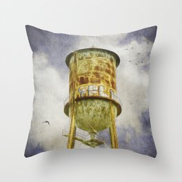 Hampton Station water tower Throw Pillow