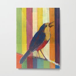 Caged Bird Singing Metal Print