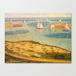 Port-en-Bessin Entrance to the Outer Harbor Georges Seurat - 1888 Impressionism Modern Populism Oil Canvas Print