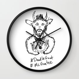 Mr. Goatee Wall Clock