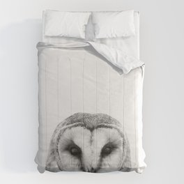 Black and white Owl Comforters