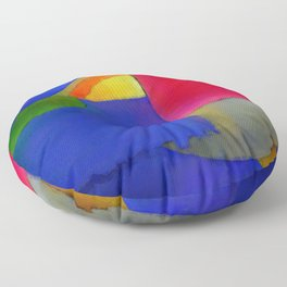 Abstract Composition 100 Floor Pillow