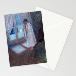 The Girl by the Window,  Edvard Munch Stationery Cards