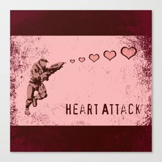 You Gimme a Heart Attack Canvas Print