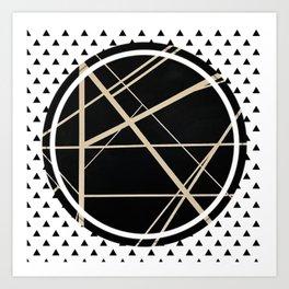 Crossroads - small triangle Art Print
