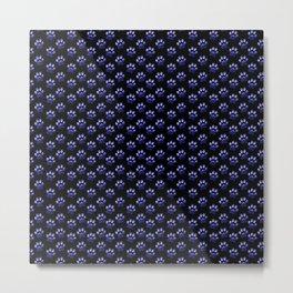 Blue GalaxyPaw Print Metal Print