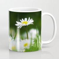 daisies Mugs featuring Daisies by Nathalie Photos