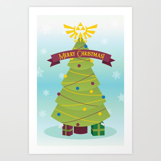 A Triforce Christmas Art Print