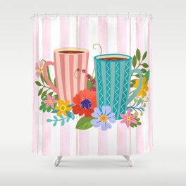 Don't Bring Me Flowers, Bring Me Coffee Shower Curtain