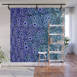 blue bubbles Wall Mural