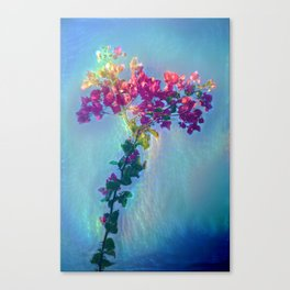 Red flower on blue sky Canvas Print