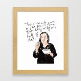 Maintaism - Pea Brain Framed Art Print