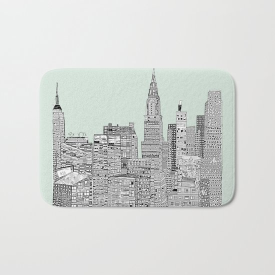 New York vintage  Bath Mat