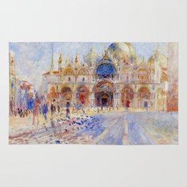"Auguste Renoir ""The Piazza San Marco, Venice"" Rug"