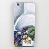 destiel iPhone & iPod Skins featuring Destiel Snow Angels by Smercurial