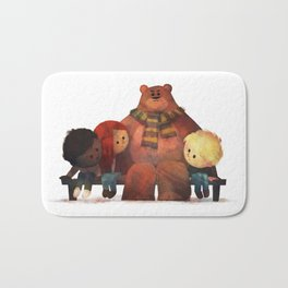 Bus Stop Friends Bath Mat