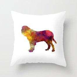Fila Brasileiro in watercolor Throw Pillow