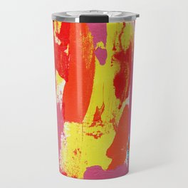 Abstract Expression #7 by Michael Moffa Travel Mug