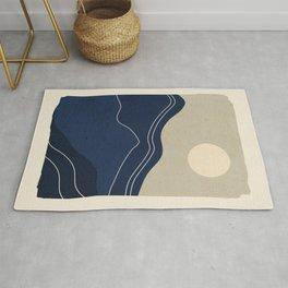 Minimal Abstract Art Landscape Rug