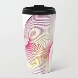 """Flow love"" minimal geometric Travel Mug"