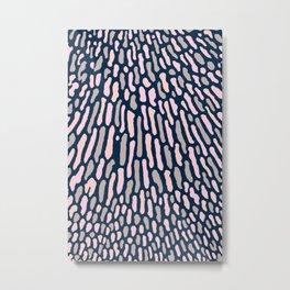 Organic Abstract Navy Blue Metal Print
