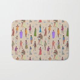 Retro Fashion Collage/ Illustration Bath Mat