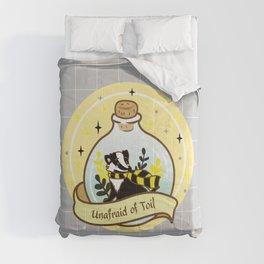 Yellow Badger In The Bottle Comforters