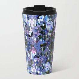 Blue Spot Floral Travel Mug