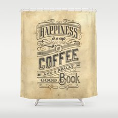 Coffee - Typography v2 Shower Curtain