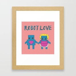 Robot Love Framed Art Print