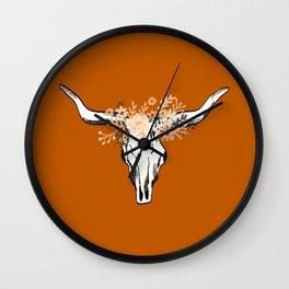 Texas University longhorns football college sports team fan Wall Clock