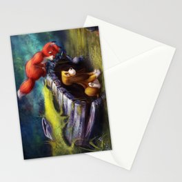 Fox and Hound Stationery Cards
