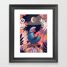 Movie night Framed Art Print
