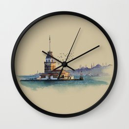 Istanbul Maiden Tower Wall Clock