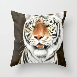Silent Stalker - Tiger Throw Pillow