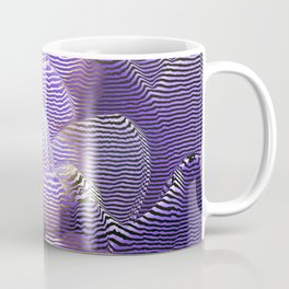 Striped crocus petals with bokeh effect Coffee Mug