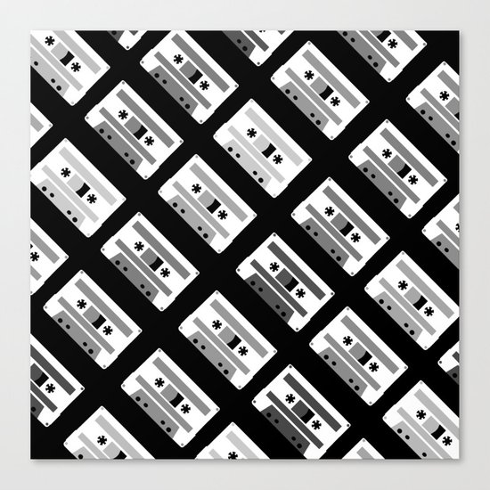 Black and White Tapes 45 Canvas Print