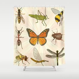 Insects on Parade Shower Curtain