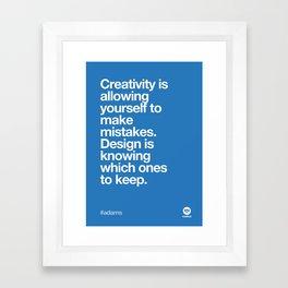 Design Quotes #7 Framed Art Print